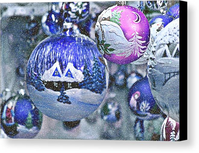 Glass Balls Canvas Print featuring the photograph Hung With Love by Christine Till