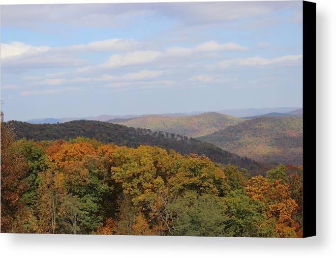 Landscape Canvas Print featuring the photograph I Can See For Miles by Charlene Gretsch