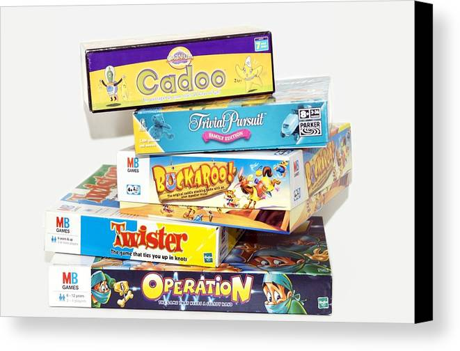 Game Canvas Print featuring the photograph Indoor Games by Johnny Greig