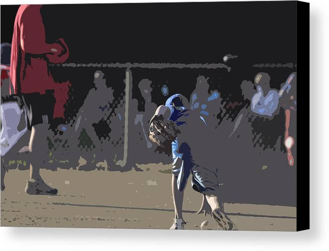 Baseball Canvas Print featuring the photograph Infield by Peter McIntosh