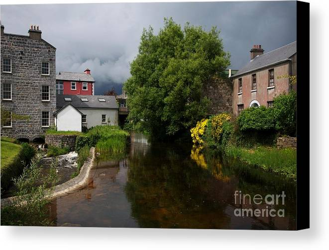 Island Canvas Print featuring the painting Irish Houses by Louise Fahy