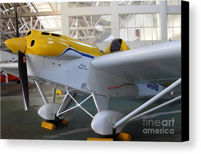 Airplane Canvas Print featuring the photograph Jdt Mini Max 1600r . Eros . Single Engine Propeller Kit Airplane . 7d11169 by Wingsdomain Art and Photography