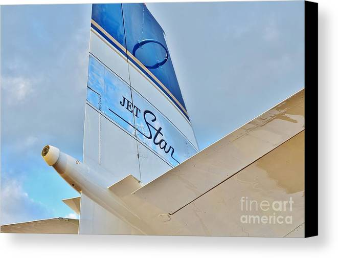 Lockheed Canvas Print featuring the photograph Jet Star by Lynda Dawson-Youngclaus