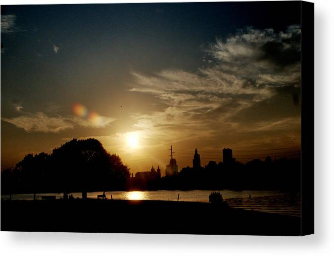 Sunset Canvas Print featuring the photograph July Sunset by Barry Doherty