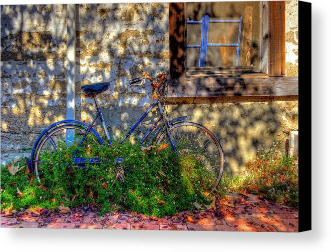 Old Bikes Canvas Print featuring the photograph Junked by Eyal Nahmias