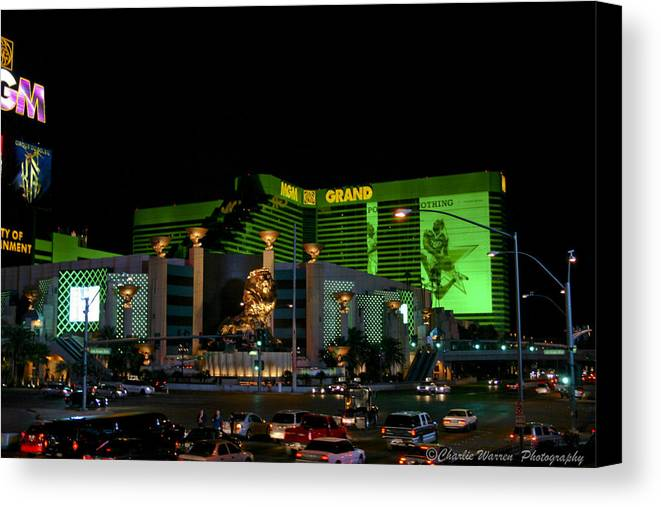 Las Vegas Canvas Print featuring the photograph Just Grand by Charles Warren