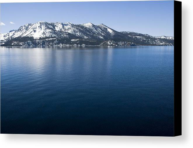 Landscape Canvas Print featuring the photograph Keep Tahoe Blue 2 by Jeremy Bartlett