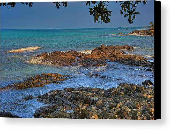 Hdr Canvas Print featuring the photograph Kona Shoreline by Scott Massey