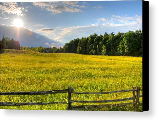 Landscape Canvas Print featuring the photograph La Prairie by David Leblanc