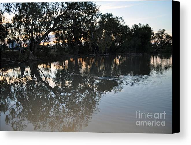 Lagoon Canvas Print featuring the photograph Lagoon At Dusk by Joanne Kocwin