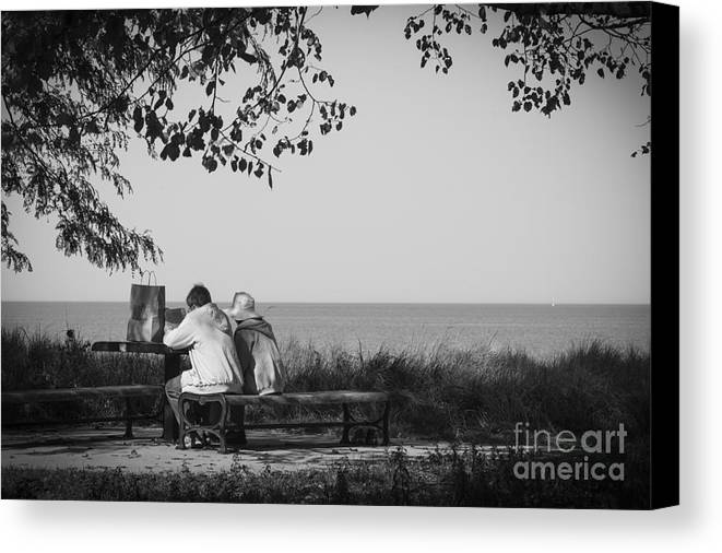 Fine Art Photography Canvas Print featuring the photograph Lake View by Maria L Salata