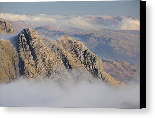 Langdale Canvas Print featuring the photograph Langdale Pikes by Stewart Smith