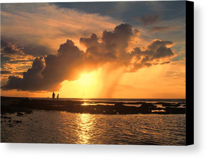 Causarina Coastal Reserve-top-end Canvas Print featuring the photograph Late Afternoon Beach Walk by Douglas Barnard
