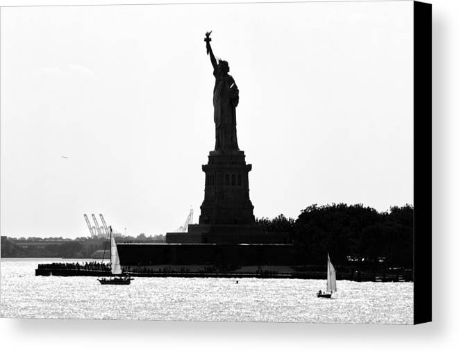 America Canvas Print featuring the photograph Liberty Island by Artistic Photos