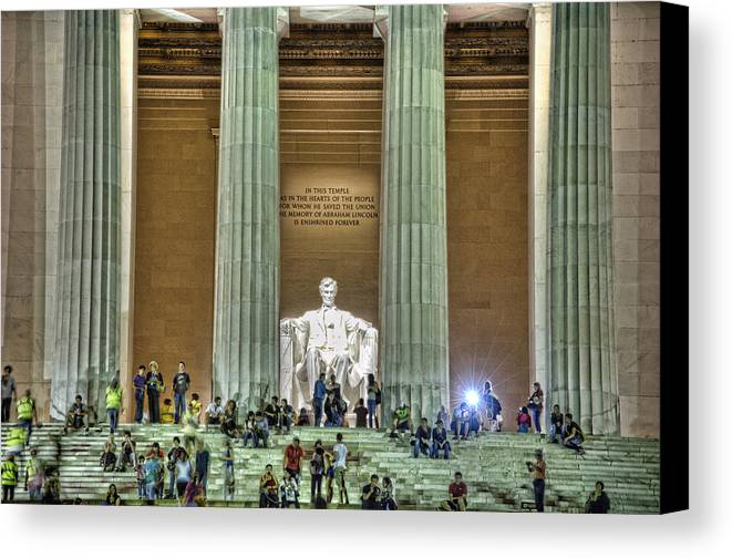 Lincoln Memorial Canvas Print featuring the photograph Lincoln Memorial Steps by Jim Pearson