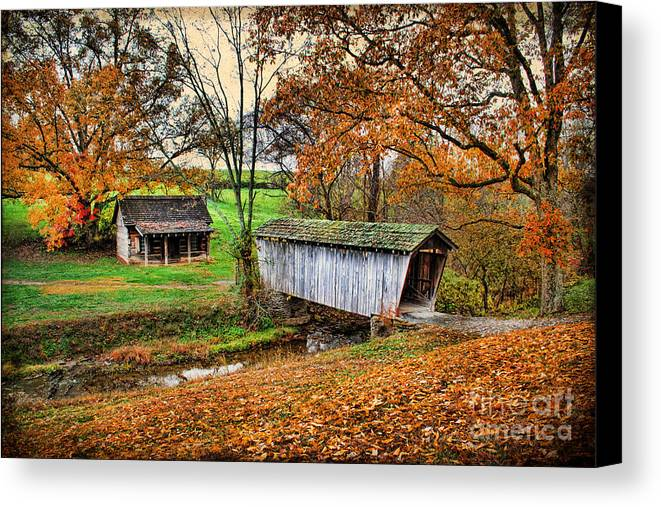 Architecture Canvas Print featuring the photograph Lincoln's Homestead by Darren Fisher