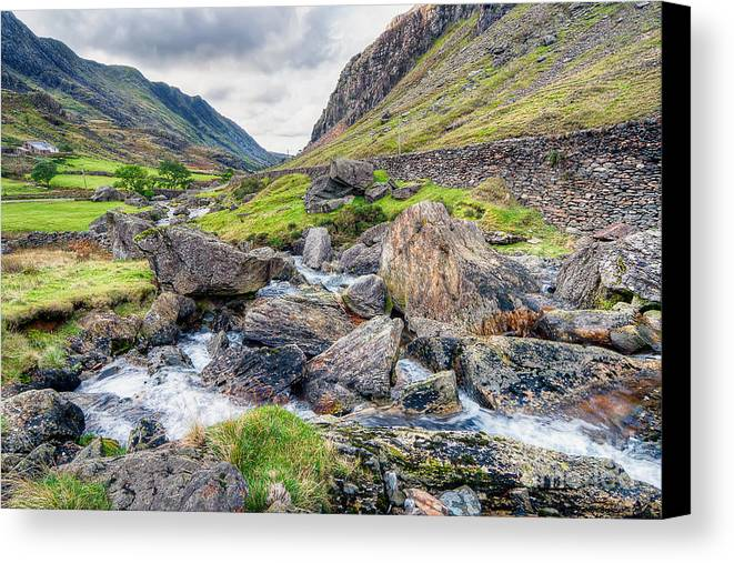 Building Canvas Print featuring the photograph Llanberis Pass by Adrian Evans