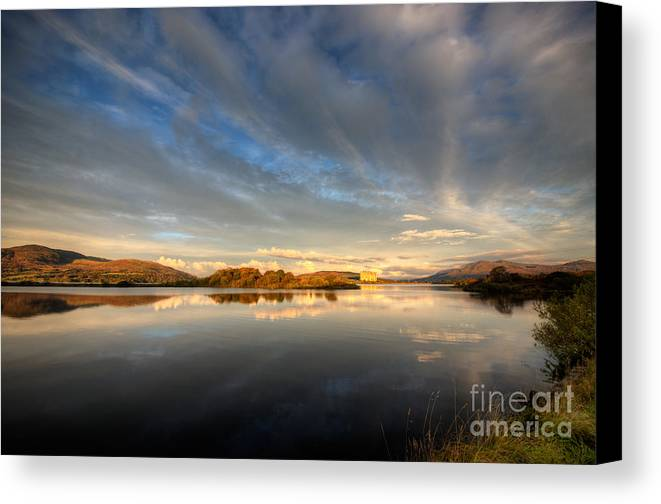Snowdonia Canvas Print featuring the photograph Llyn Trawsfynydd - October 2012 by Rory Trappe