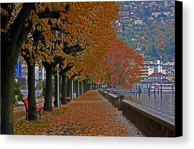 Travel Canvas Print featuring the photograph Locarno In Autumn by Joana Kruse