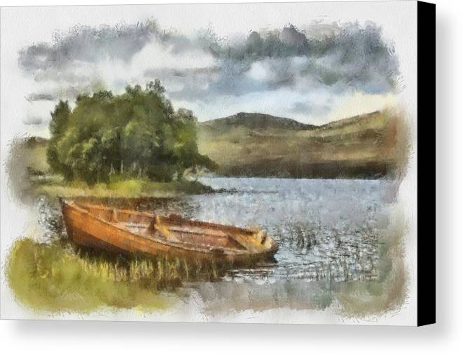 Landscape Canvas Print featuring the photograph Loch Awe by Sam Smith Photography