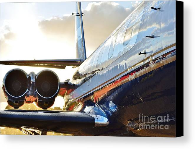 Lockheed Canvas Print featuring the photograph Lockheed Jet Star Side View by Lynda Dawson-Youngclaus