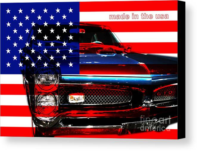 Transportation Canvas Print featuring the photograph Made In The Usa . Pontiac Gto by Wingsdomain Art and Photography