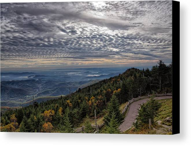 Blue Canvas Print featuring the photograph Magic Autumn Morning by Daniel Lowe