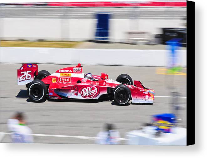 Marco Andretti Canvas Print featuring the photograph Marco Andretti At Toronto Indy by Jarvis Chau
