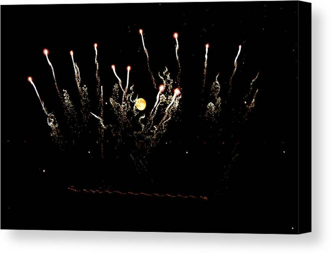 Full Moon Canvas Print featuring the photograph Match Sticks by Justin Tucker
