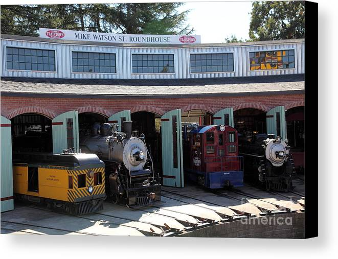 Sonoma Canvas Print featuring the photograph Mike Watson St. Turnhouse - Traintown Sonoma California - 5d19249 by Wingsdomain Art and Photography