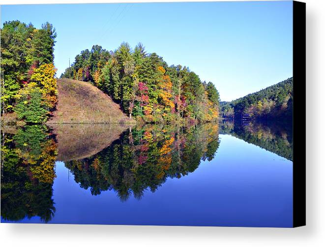 Landscape Canvas Print featuring the photograph Mirror Image by Susan Leggett