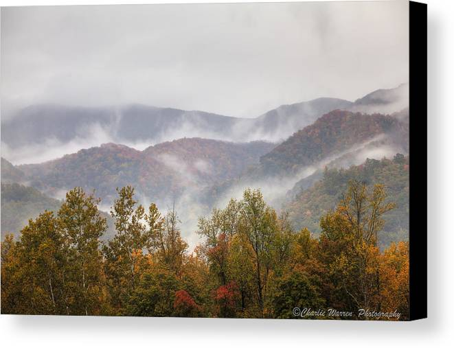 Great Smoky Mountains Canvas Print featuring the photograph Misty Morning I by Charles Warren