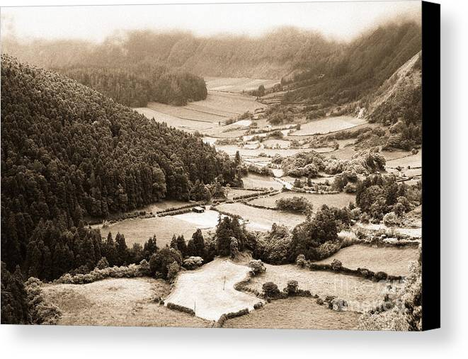 Rural Canvas Print featuring the photograph Misty Valley by Gaspar Avila
