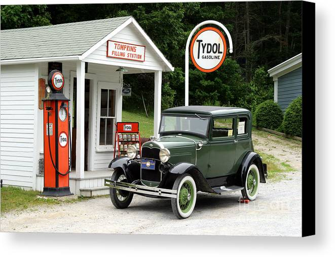 Antique Car Canvas Print featuring the photograph Model A Ford by Ted Kinsman