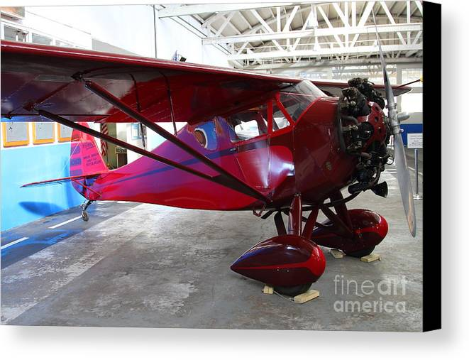 Airplane Canvas Print featuring the photograph Monocoupe 110 . 7d11144 by Wingsdomain Art and Photography