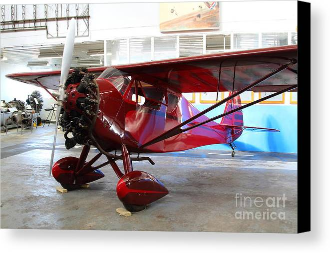 Airplane Canvas Print featuring the photograph Monocoupe 110 . 7d11149 by Wingsdomain Art and Photography