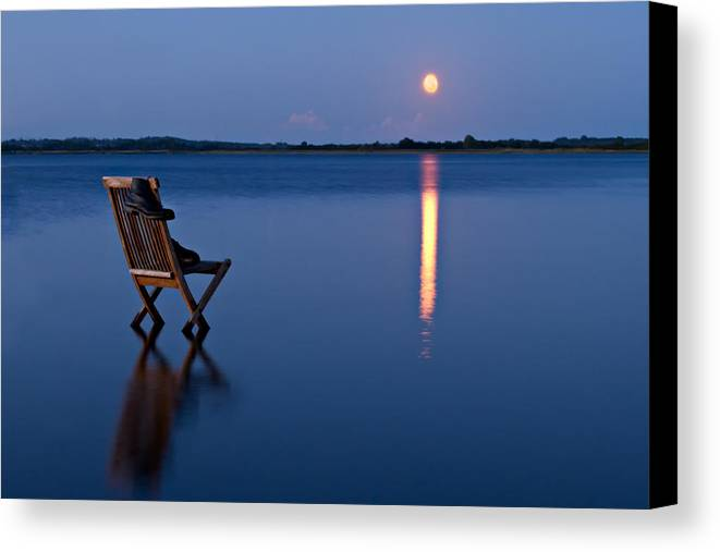Blue Canvas Print featuring the photograph Moon Boots by Gert Lavsen