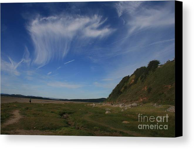 Cirrus Canvas Print featuring the photograph Morecambe Bay Cirrus by Andy Mercer