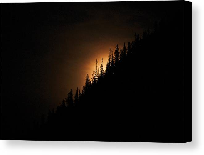 Landscape Canvas Print featuring the photograph Mountain Glow by Lisa Spencer