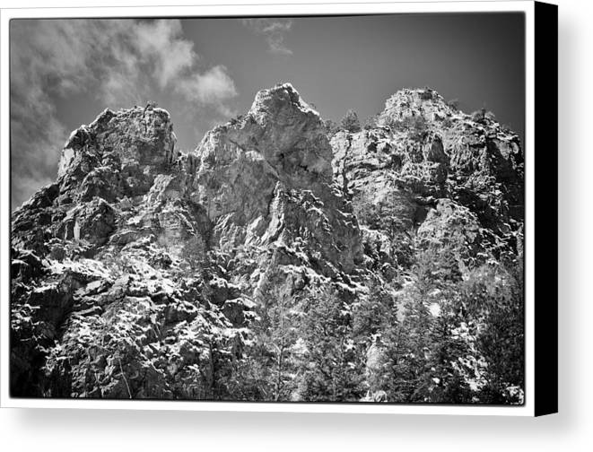 Mountain Canvas Print featuring the photograph Mountain Peaks by Lisa Spencer