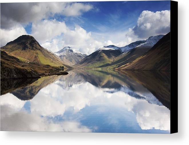 Cumbria Canvas Print featuring the photograph Mountains And Lake, Lake District by John Short