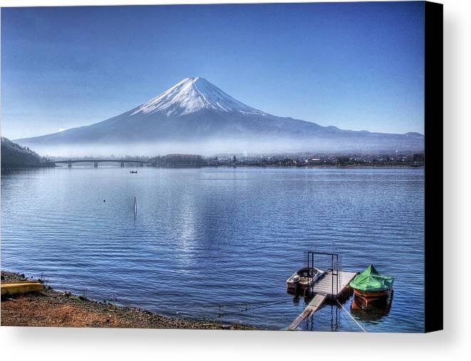 Mountain Canvas Print featuring the photograph Mt Fuji by Kean Poh Chua