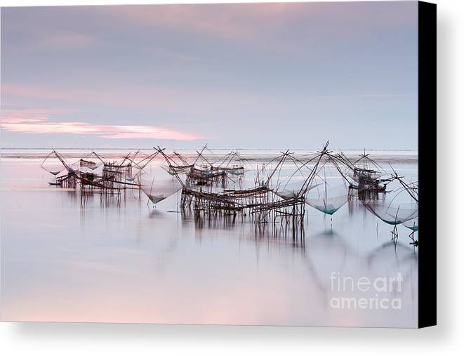 Agriculture Canvas Print featuring the photograph Native Asian Fishery by Buchachon Petthanya