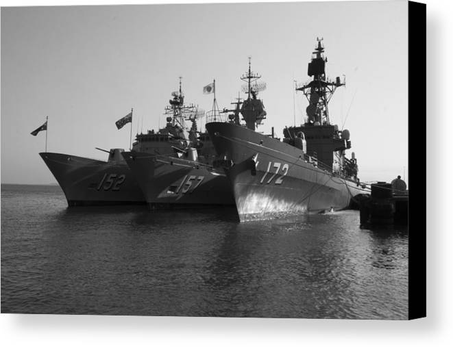 Naval Joint Operations Canvas Print featuring the photograph Naval Joint Ops V1 by Douglas Barnard