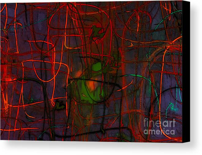 Abstract Canvas Print featuring the digital art Networking by Jeff Breiman