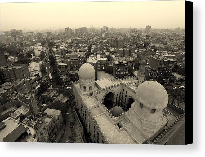 Horizontal Canvas Print featuring the photograph Never-ending Cairo by Arjun Purkayastha · travel & fine art photography ·