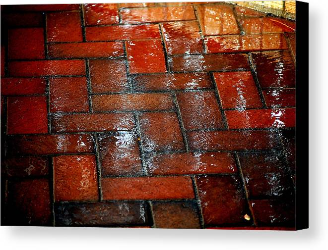 Red Canvas Print featuring the photograph New Brick by David Pike