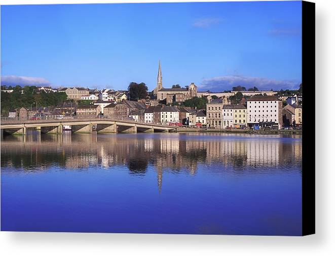 Blue Sky Canvas Print featuring the photograph New Ross, Co Wexford, Ireland by The Irish Image Collection