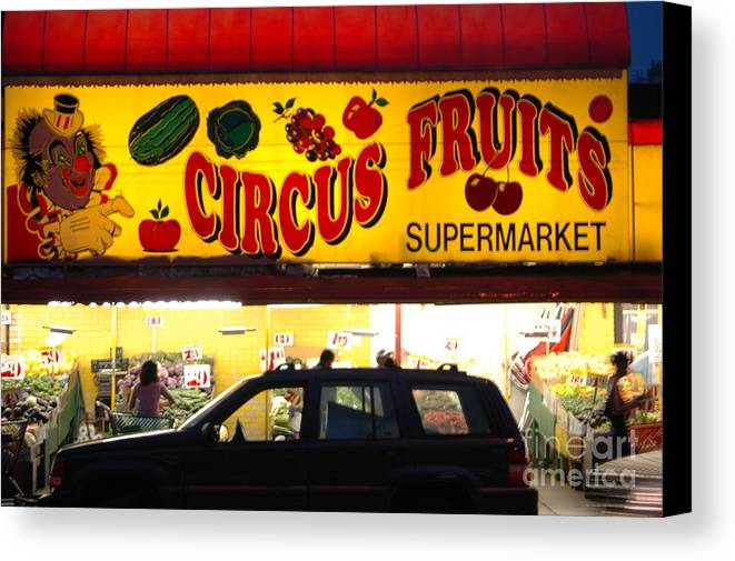 Bklyn Canvas Print featuring the photograph Night At The Supermarket by Mark Gilman
