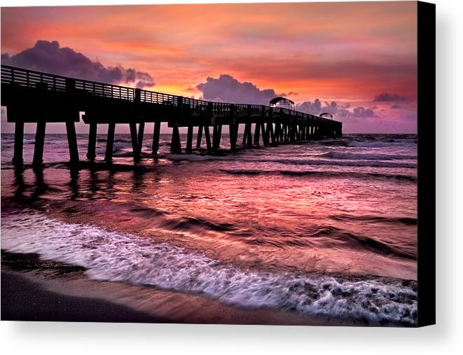 Clouds Canvas Print featuring the photograph Ocean Lace by Debra and Dave Vanderlaan